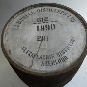Bunnahabhain Whiskyfass mit Aufdruck: THE HIGHLAND DISTILLERS CO LTD, Jahr 2013, BUNNAHABHAIN - ISLAY, Fassnummer 10556